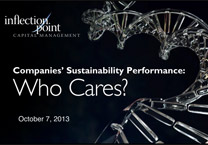 Sustainability Performance:  Who Cares?
