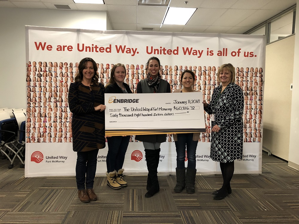 2017 United Way Fort McMurray check