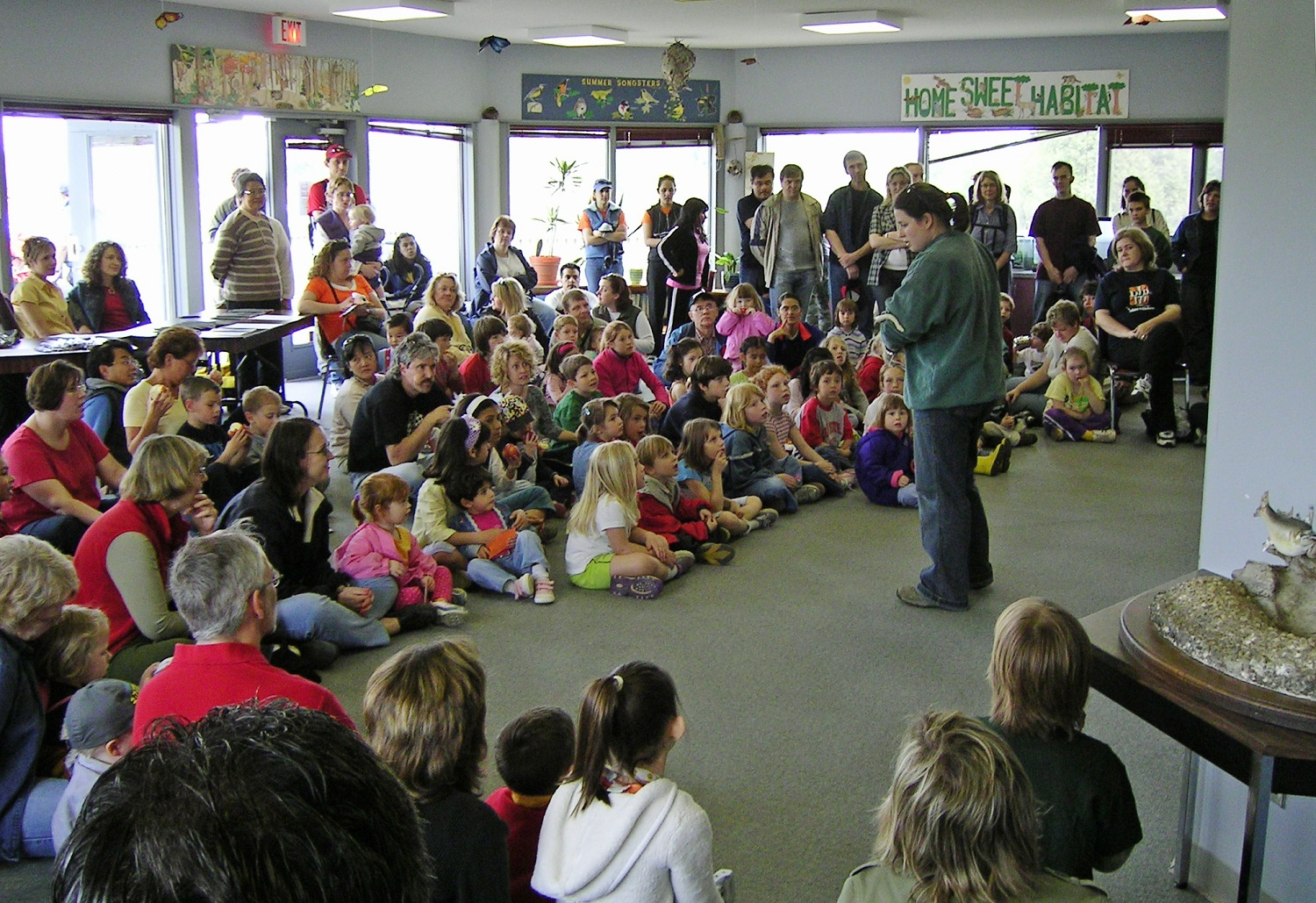 Presentation to dozens of kids