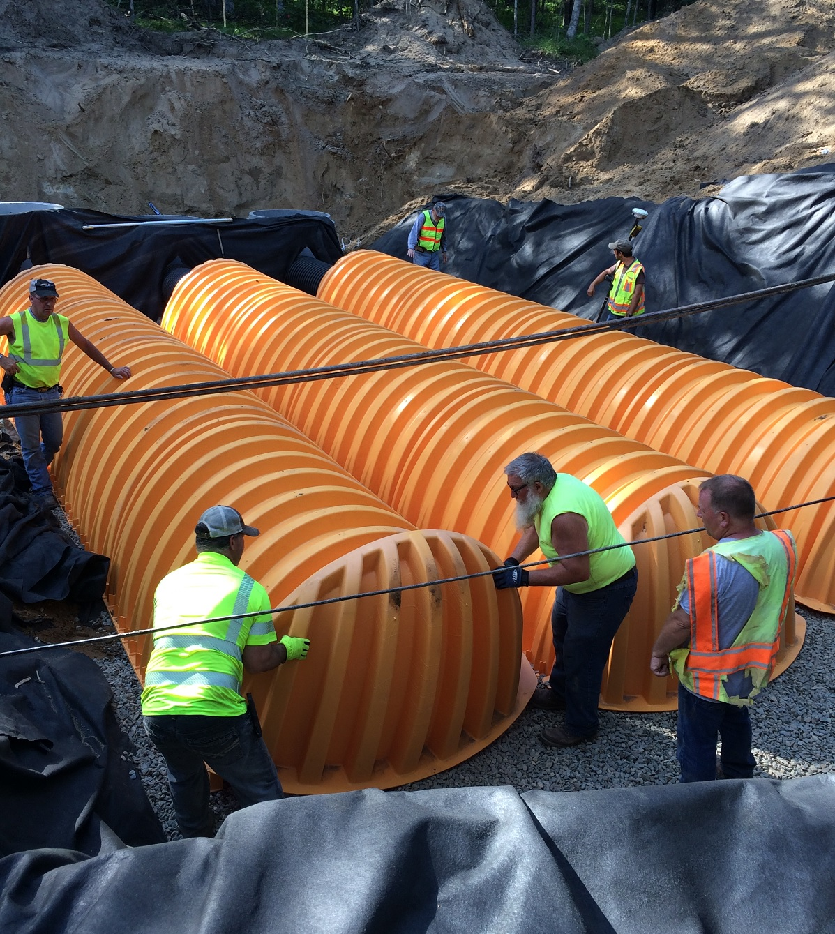 Stormwater runoff storage tanks