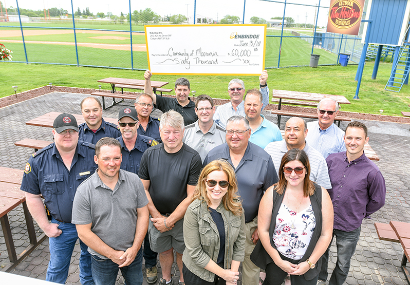 Town of Moosomin Cheque presentation