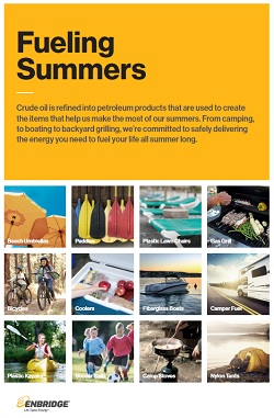 Summer consumer items made with petroleum products