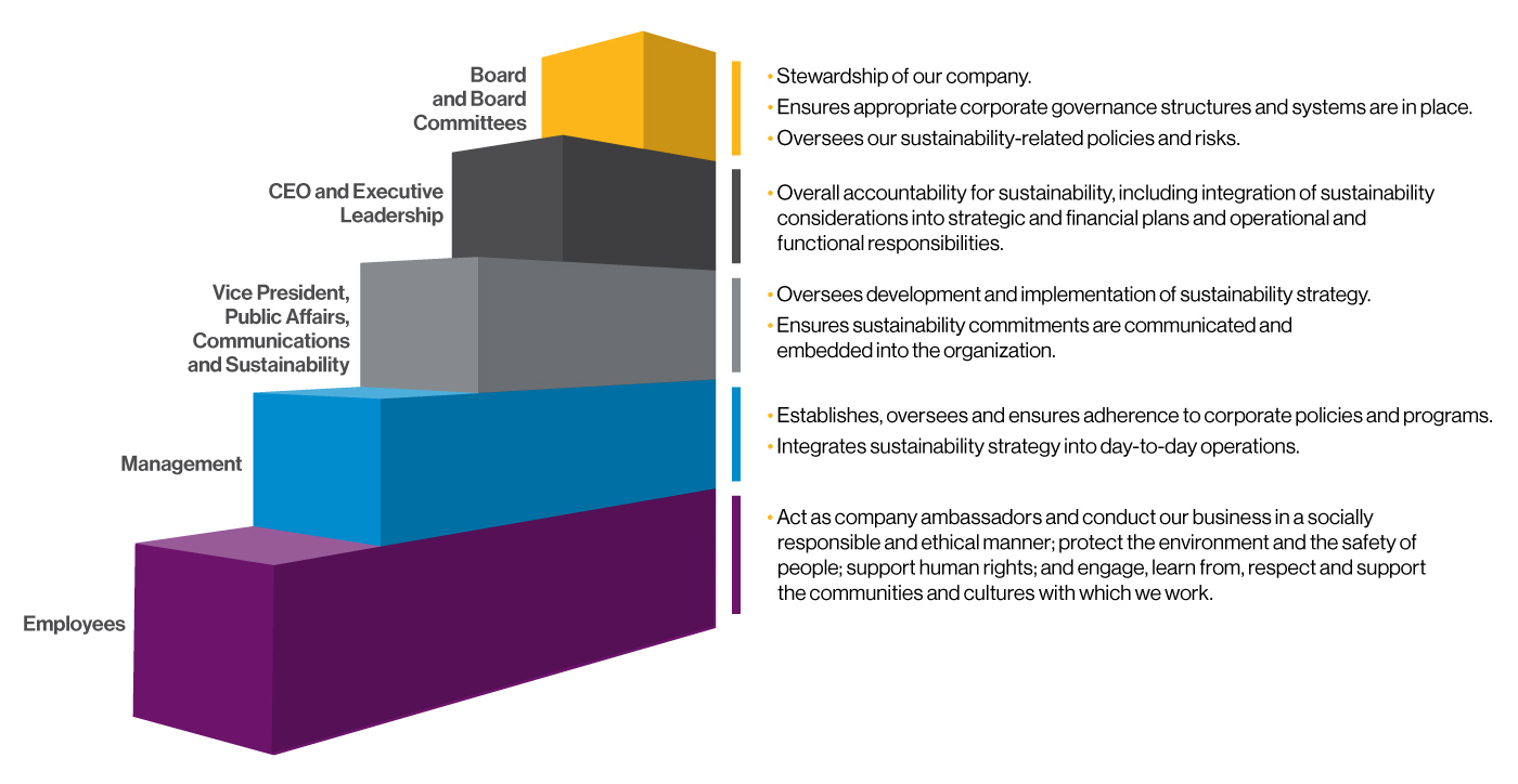 Sustainability Governance Structure diagram
