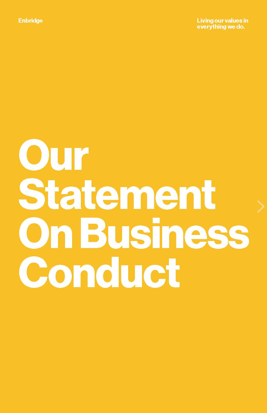 Our Statement On Business Conduct