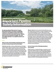 Pipeline safety information brochure