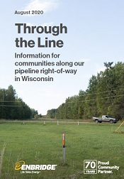 Pipeline of right-of-way through Wisconsin